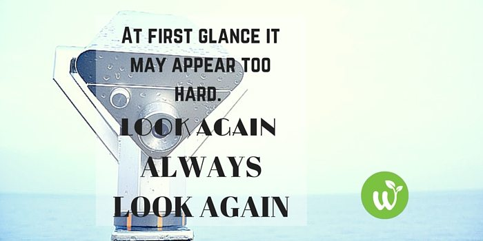 HB first glance it may appear too hard. Look again. Always look again