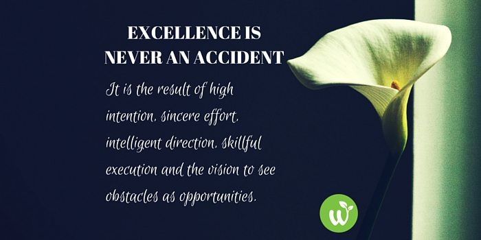 HB Excellence is never an accident; it is the result of high intention, sincere effort, intelligent direction, skillful execution and the vision to see obstacles as opportunities.