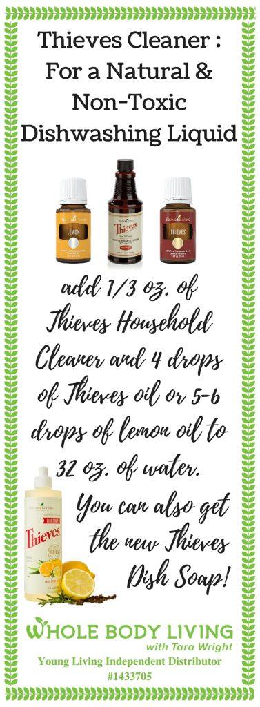 natural dish washing liquid pinterest recipe card