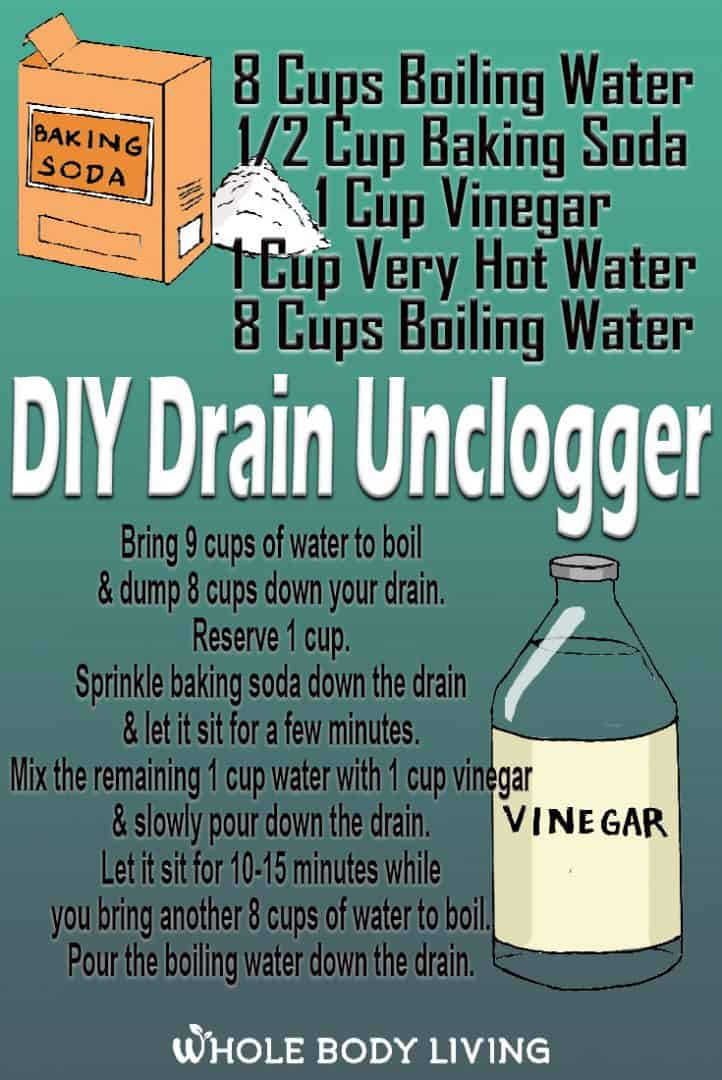 how to unclog a slow drain DIY drain uncloger recipe cars