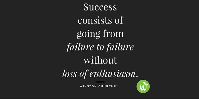 HB Success consists of going from failure to failure without loss of enthusiasm.