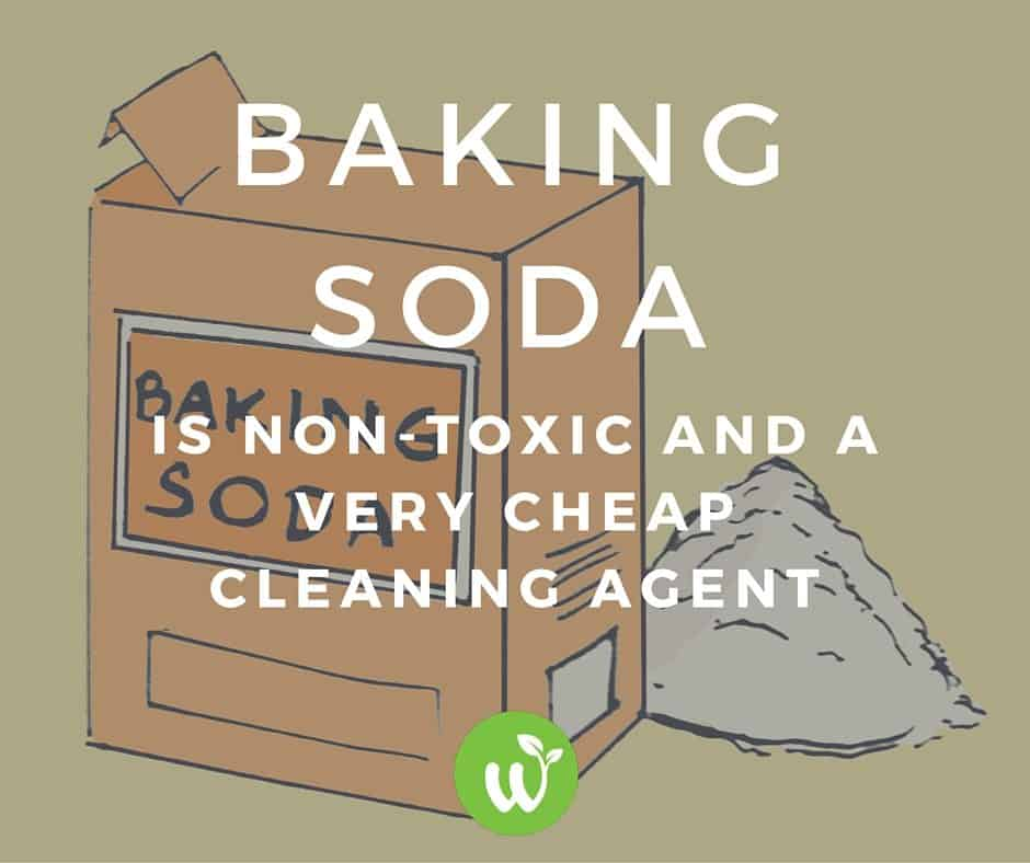 baking soda is a non toxic and cheap cleaning agent to use in DIY Home Cleaners