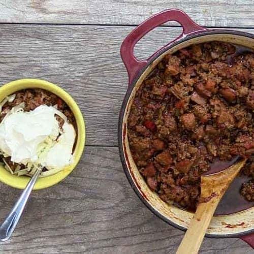 meaty keto chili