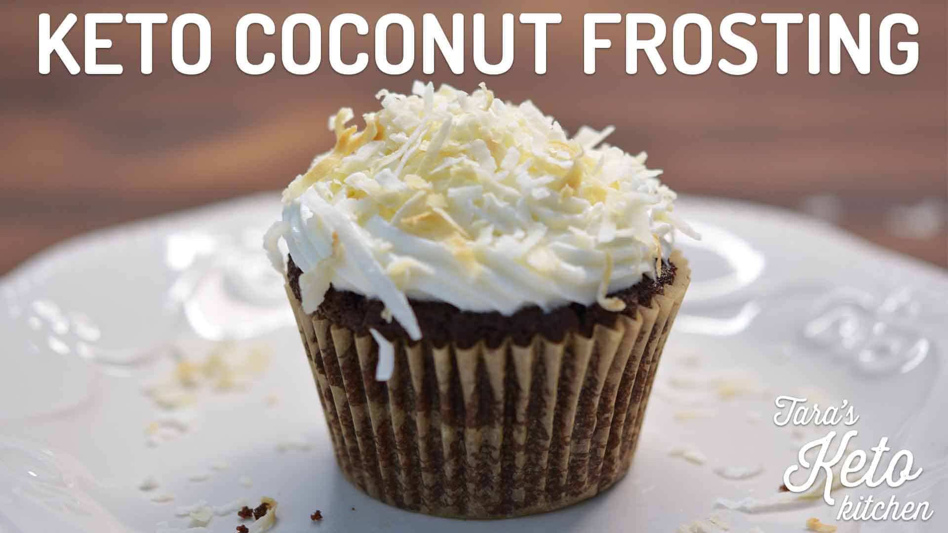 low carb coconut frosting keto frosting