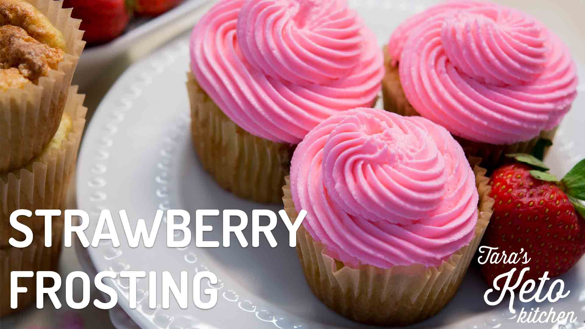 low carb strawberry frosting keto frosting