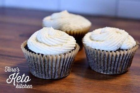 keto dark chocolate cupcake