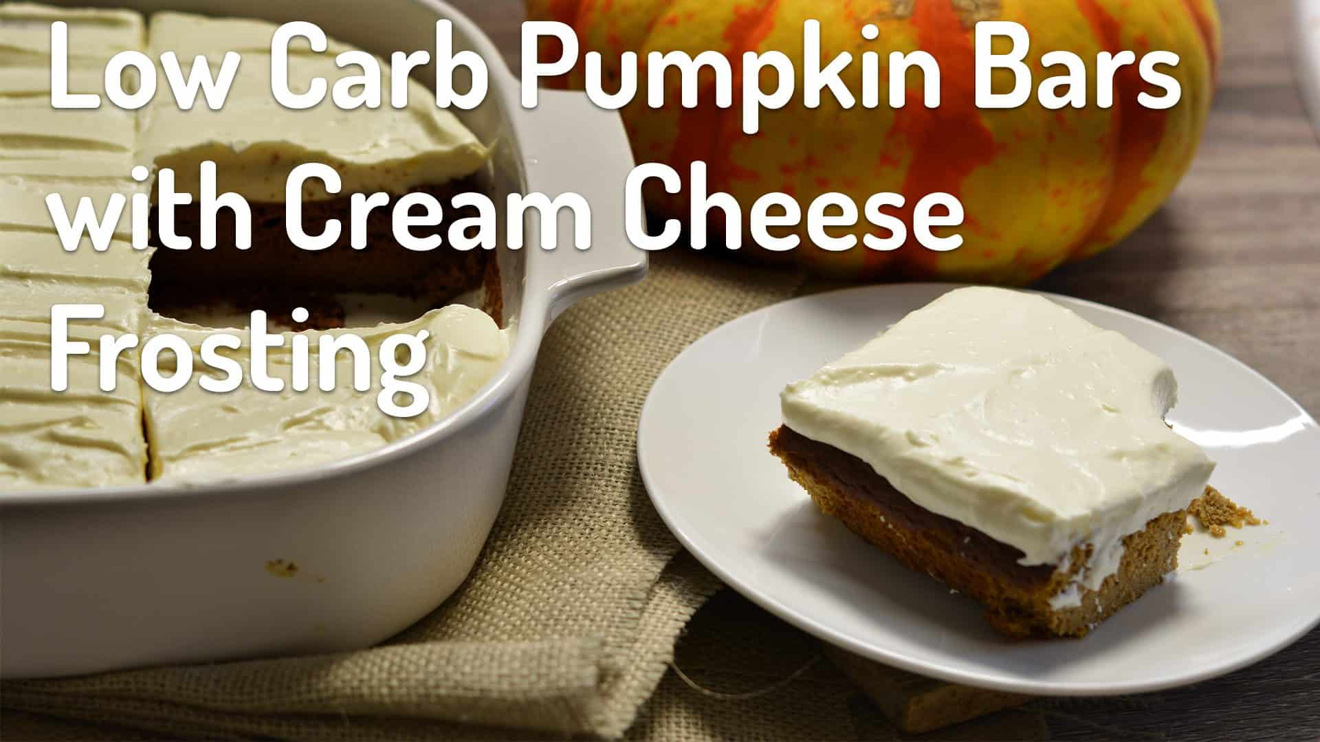 low carb pumpkin bars photo titled low carb pumpkin bars with cream cheese frosting