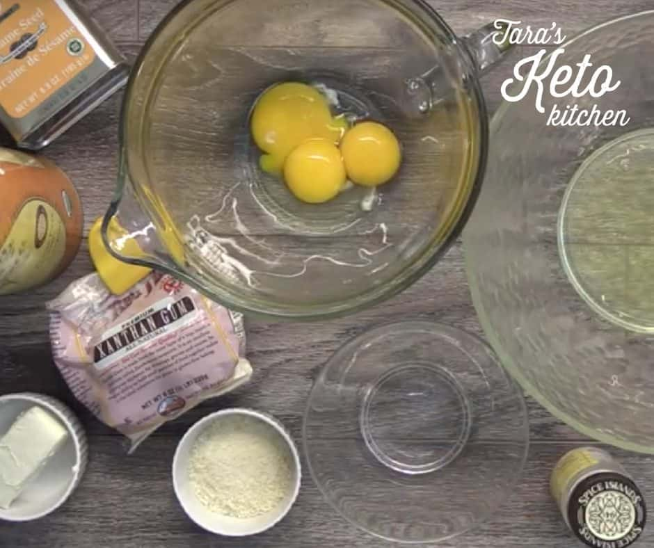 ingredients for savory keto cloud bread