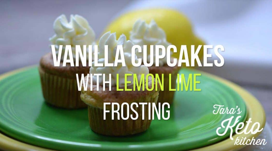 keto vanilla cupcake a low carb cupcake with keto frosting