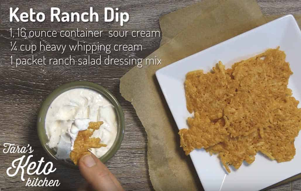 Keto Parmesan Chips ranch dip
