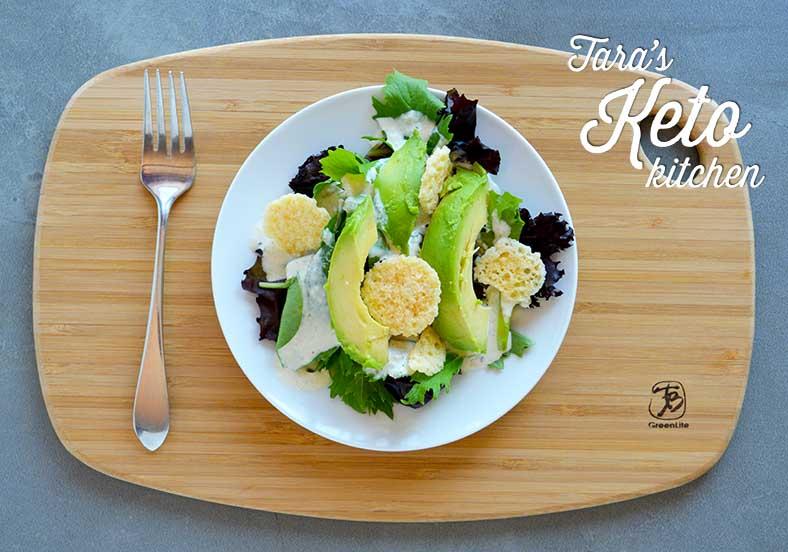 Caesar Salad Dressing with Kefir on Salad 2