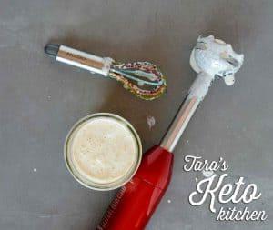 Creamy Parmesan Salad Dressing mixing