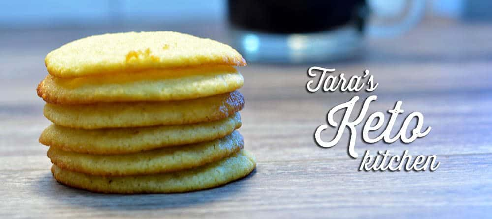Keto Sugar Cookie Muffin Tops Stacked