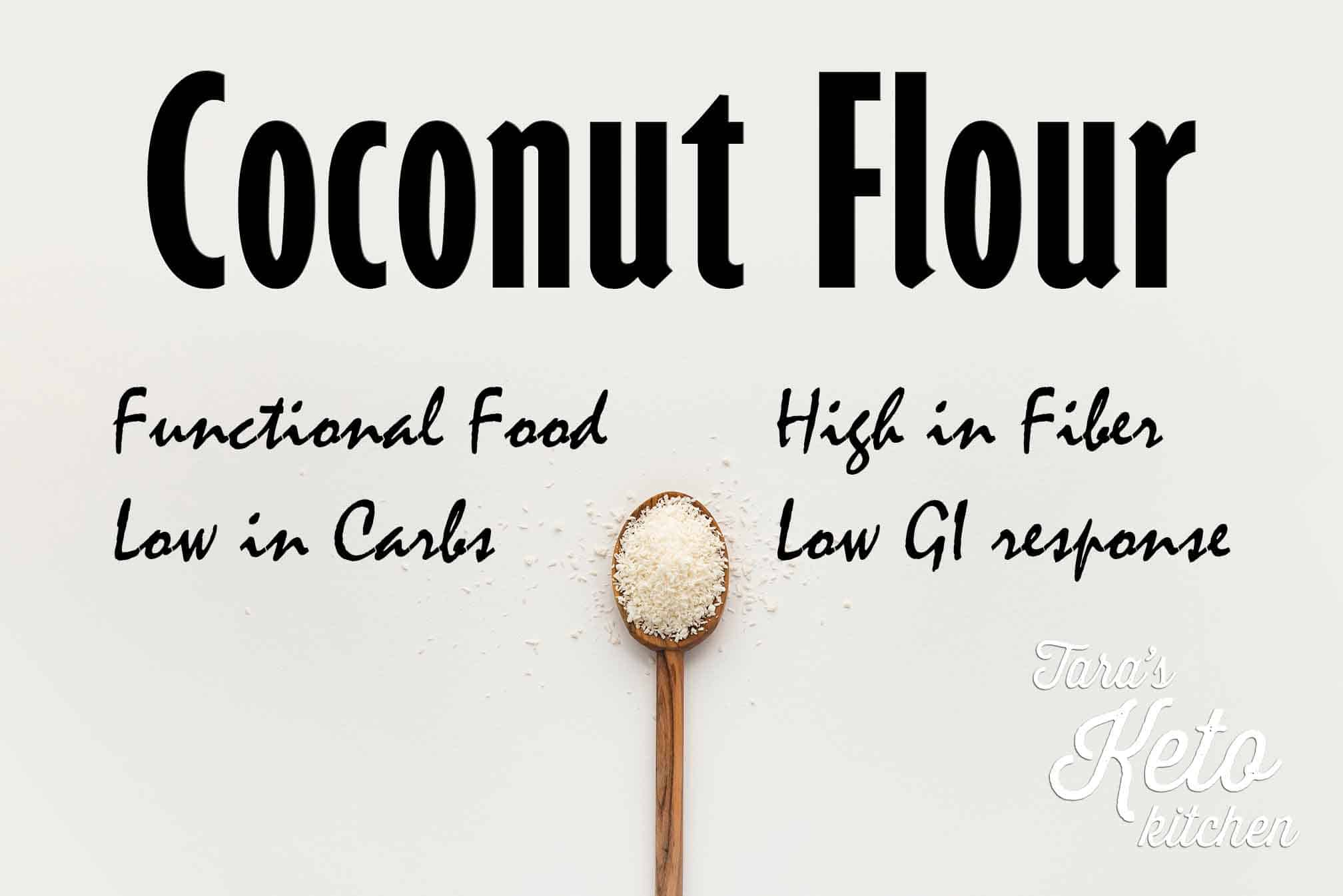 image showing the health benefits of coconut flour