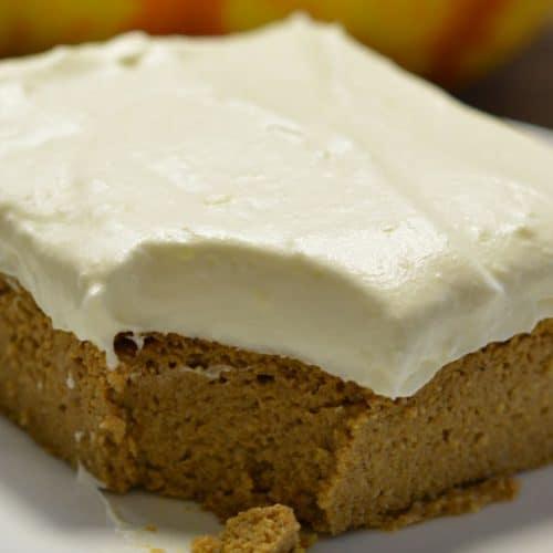 Grain Free Pumpkin Bar slice on plate