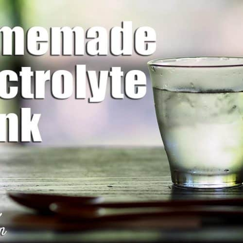 Homemade Electrolyte Drink (Keto)