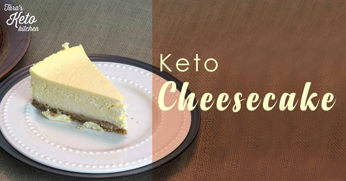 slice of keto cheesecake