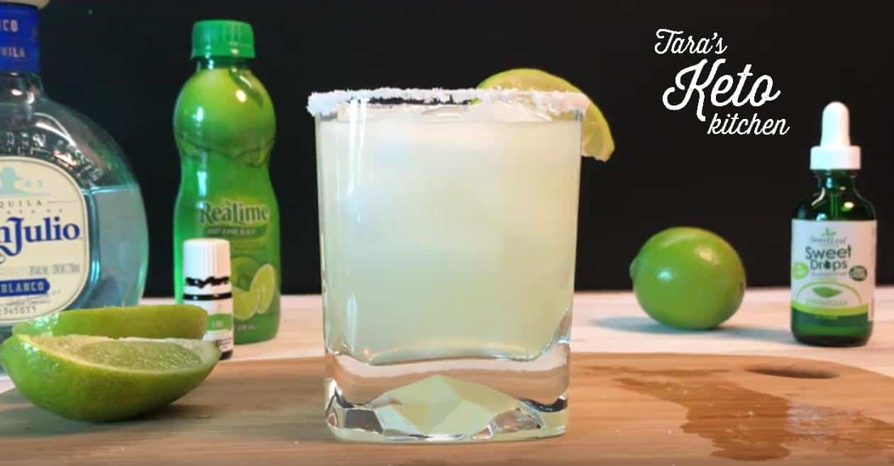 Low Carb Margarita a finished skinny margarita with salt