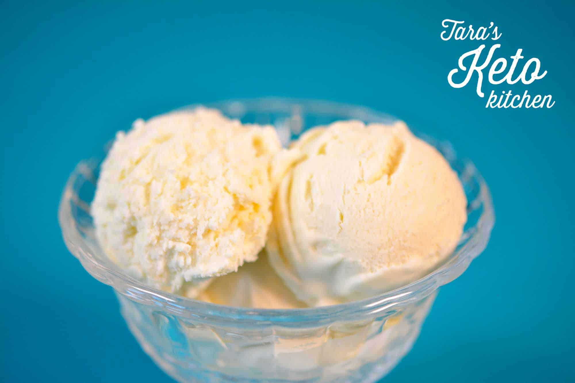Easy No Churn Keto Vanilla Ice Cream 3