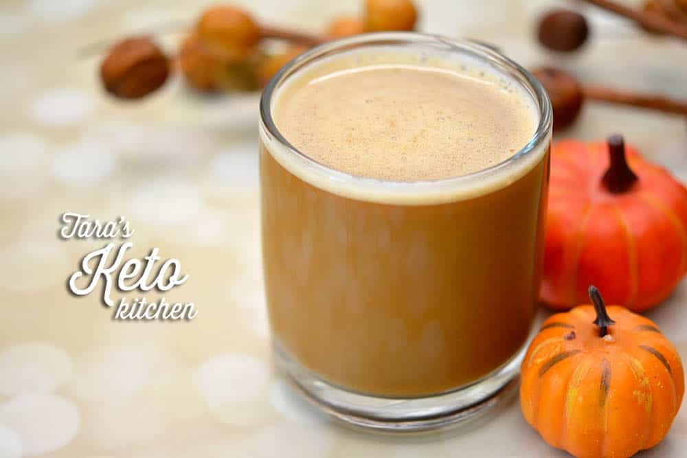 Dairy Free Pumpkin Spice Keto Coffee Creamer mixed into a cup of hot coffee