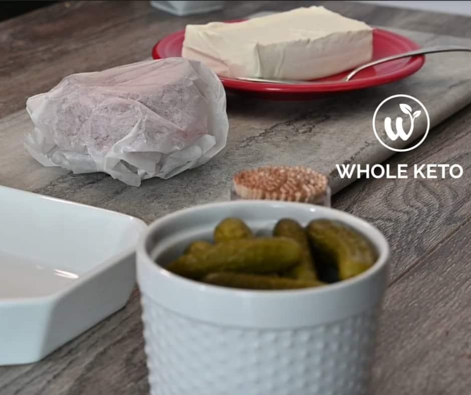 keto appetizer recipe Keto Salami Roll Ups prep