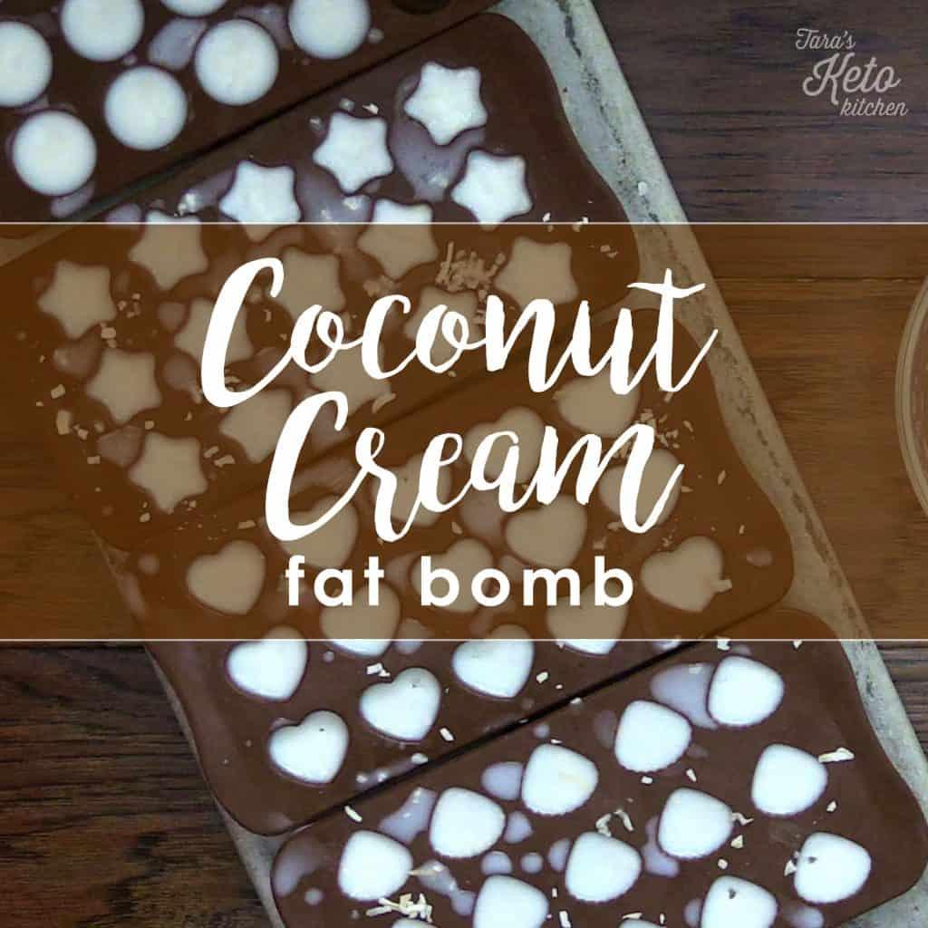 heart molded coconut cream fat bombs
