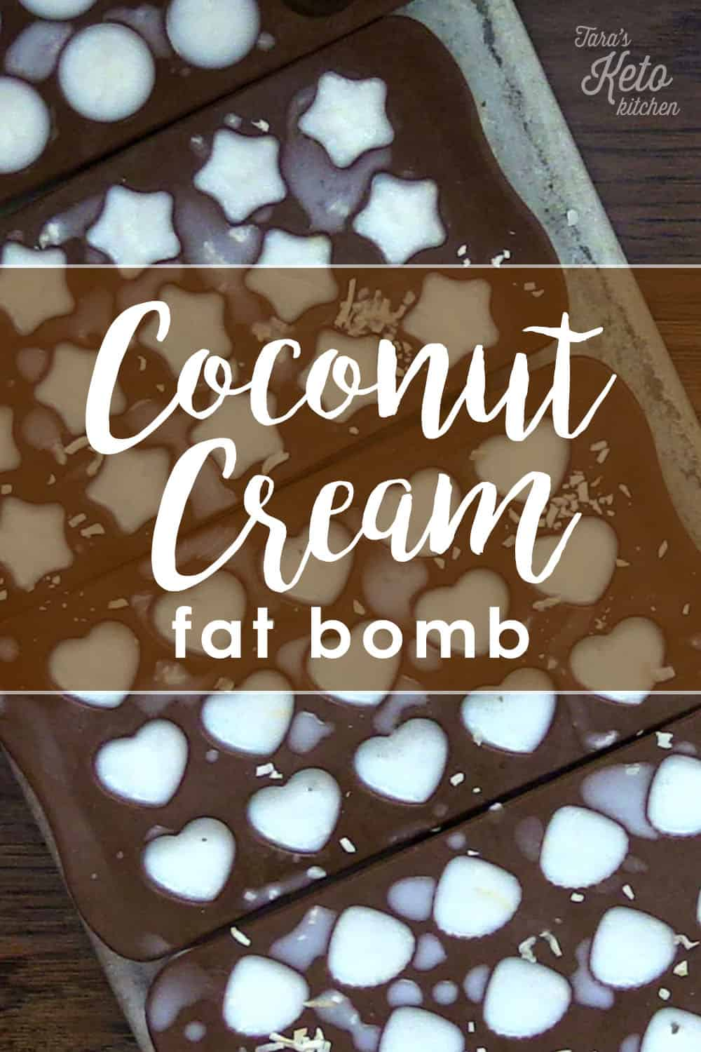 coconut cream fat bomb shown in molds of hearts