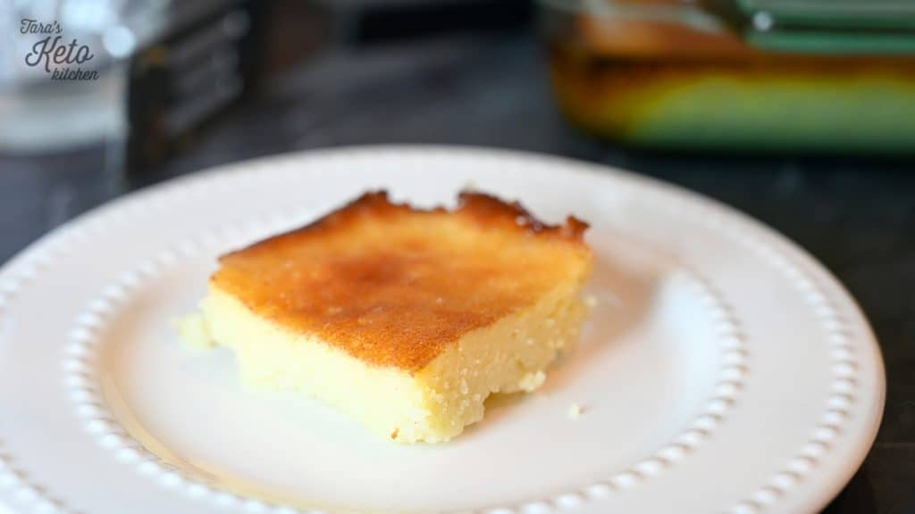Keto Gooey Butter Cake served on plate
